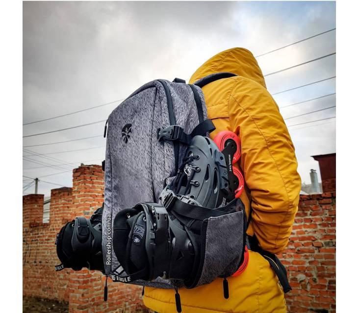 Рюкзак для роликов Flying Eagle Movement Backpack Big серый popup_3