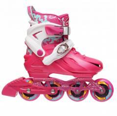 Детские раздвижные роликовые коньки BKB K8 розовые