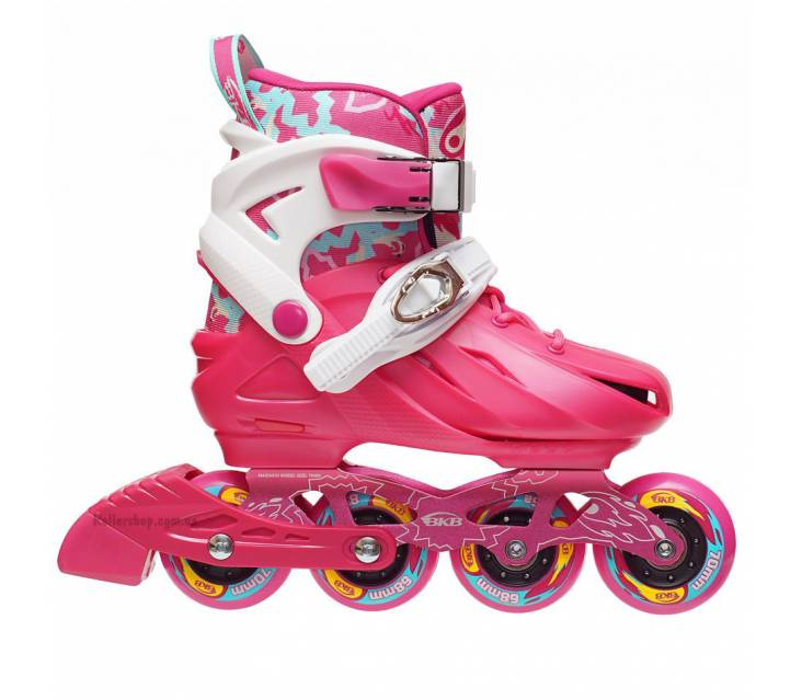 Дитячі розсувні роликові ковзани BKB K8 рожеві popup