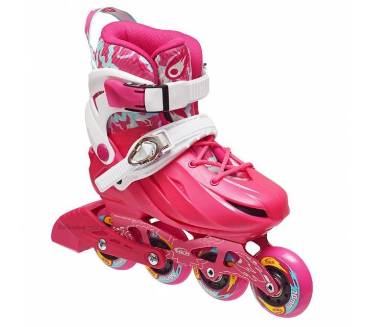 Дитячі розсувні роликові ковзани BKB K8 рожеві popup_0
