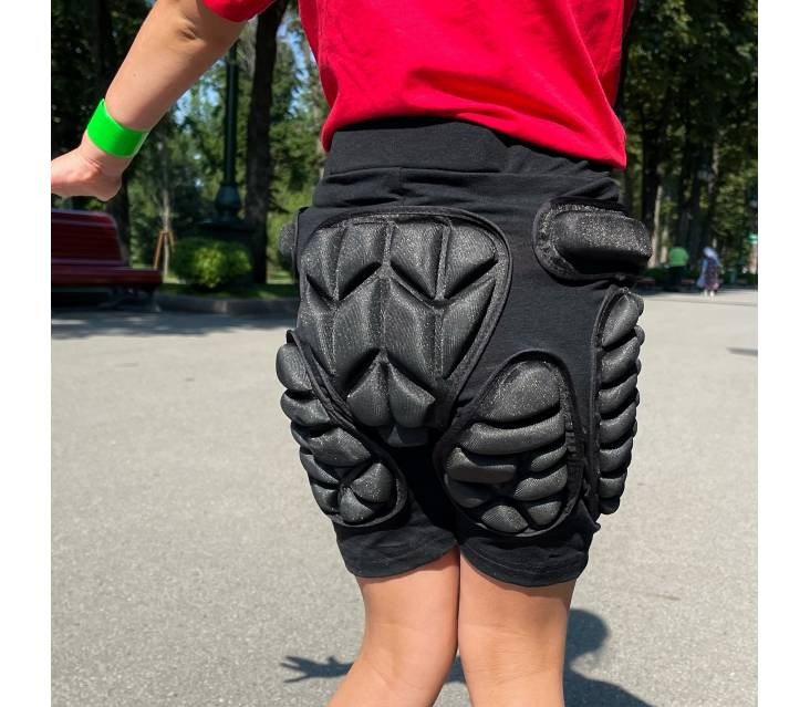 Крешпад, защитные шорты для роликов Roller синий  popup_1