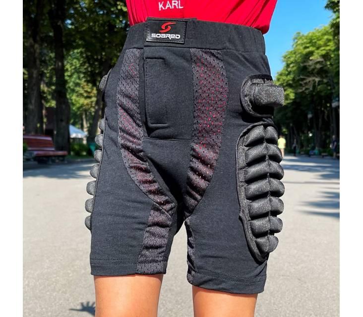 Крешпад, защитные шорты для роликов Roller синий  popup_3