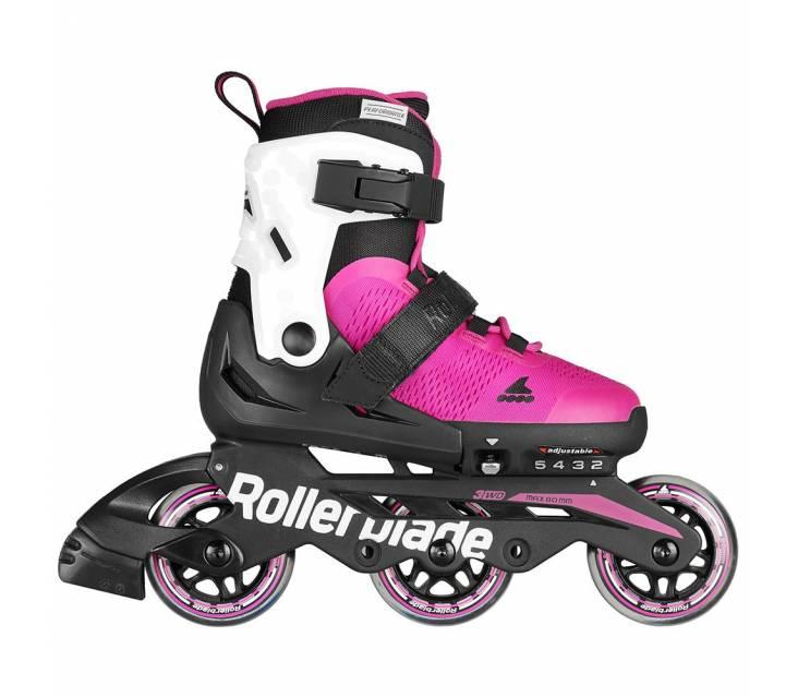 Дитячі розсувні ролики Rollerblade Microblade 3Wd рожеві popup