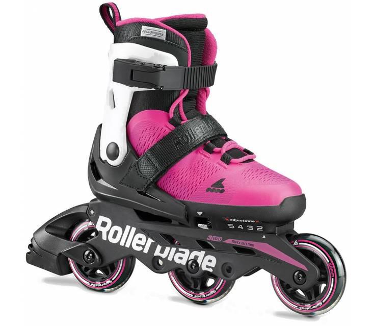 Дитячі розсувні ролики Rollerblade Microblade 3Wd рожеві popup_0