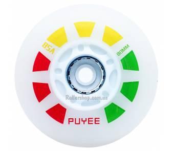 Светящиеся колеса для роликовых коньков Puyee разноцветные item_0
