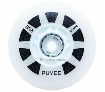 Светящиеся колеса для роликовых коньков Puyee белые item_0