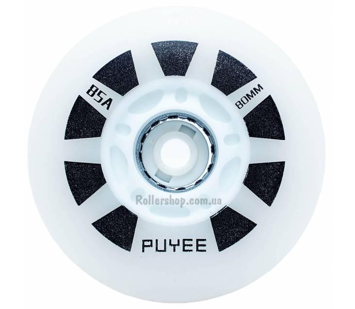 Светящиеся колеса для роликов Puyee White