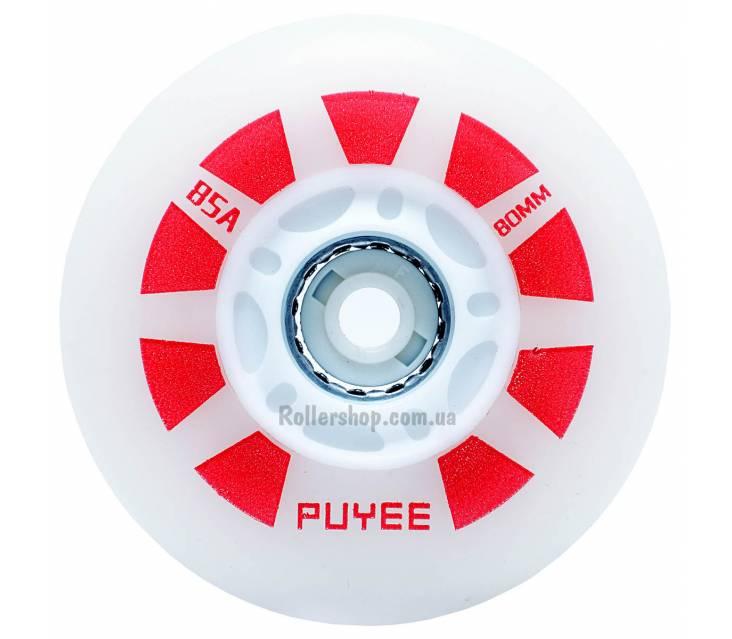 Светящиеся колеса для роликов Puyee Red
