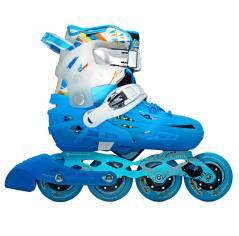 Детские раздвижные ролики Flying Eagle S6S Junior синие