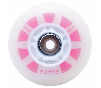 Светящиеся колеса для роликов Puyee фиолетовые item_0