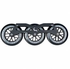 Трех колесный сет Ground Control Tri-Skate 125 mm Black