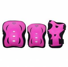 Защита для роликов детская комплект Flying Eagle V5 Protector розовая