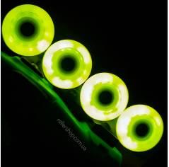 Светящиеся колеса для роликов Seba Luminous желтые