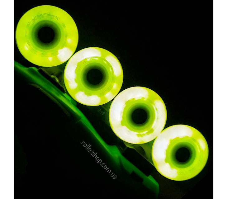 Сяючі колеса для роликів Seba Luminous жовті popup