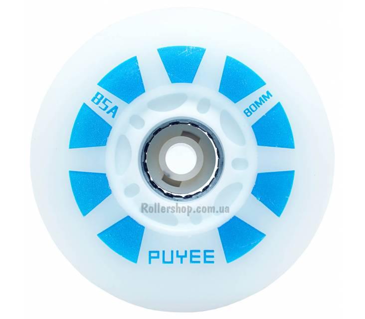 Светящиеся колеса для роликовых коньков Puyee Blue