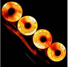 Светящиеся колеса для роликов Flying Eagle Lazerwheelz Orange