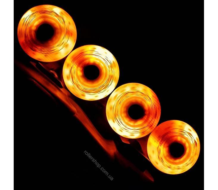 Светящиеся колеса для роликов Flying Eagle Lazerwheelz Orange  image-item