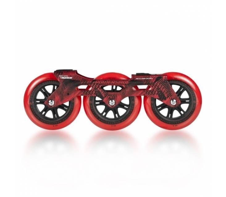 Трех колесный сет Powerslide Megacruiser 125 mm Red