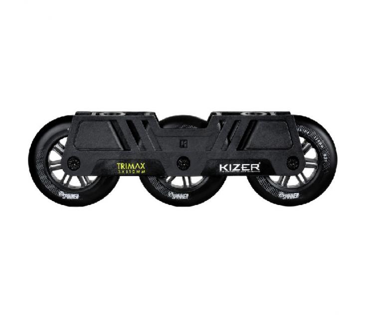 Триколісний сет для роликів Kizer Trimax 110 mm чорний popup