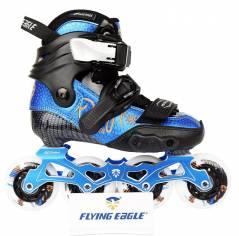Детские профессиональные ролики Flying Eagle Drift-JRS синие