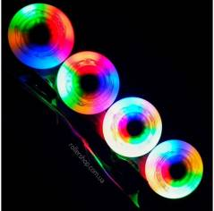 Светящиеся колеса для роликов Flying Eagle Lazerwheelz Multicolor