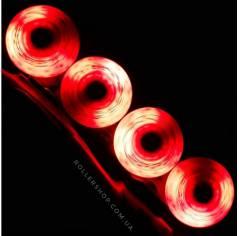 Светящиеся колеса для роликов Flying Eagle Lazerwheelz Red