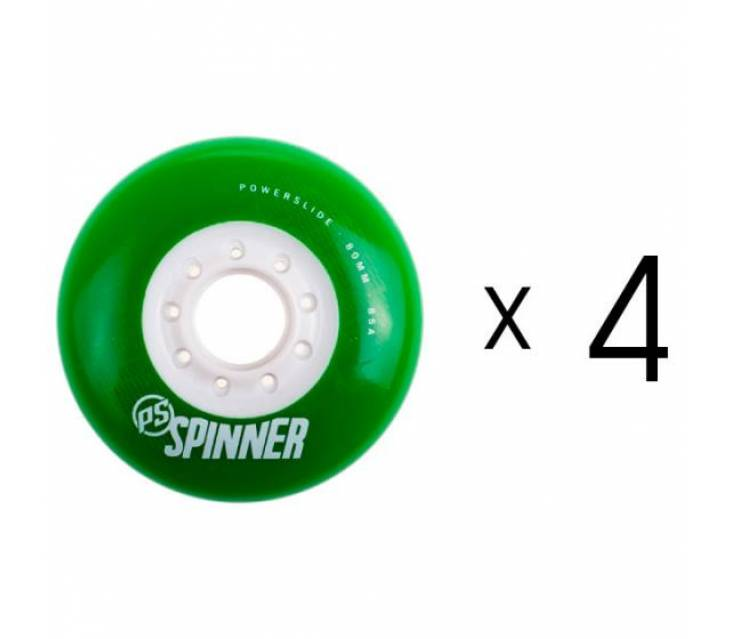 Колеса для роликов Powerslide Spinner Wheels Green