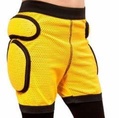 Защитные шорты детские для роликов Sport gear Yellow