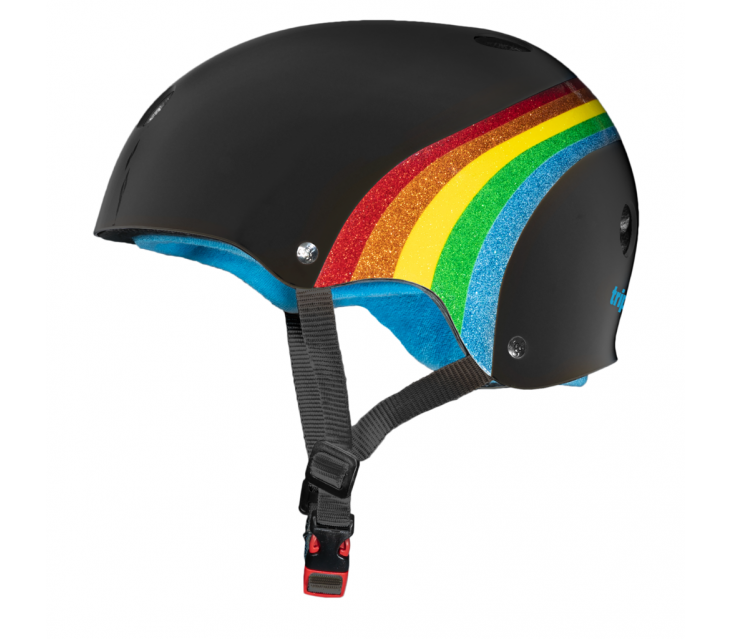 Шолом Triple8 Black Rainbow Sparkle popup