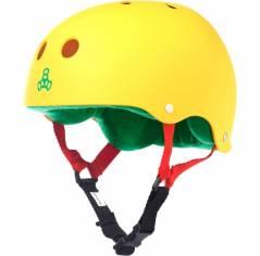 Шолом для самоката Triple8 Sweatsaver Helmet Rasta Yellow