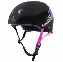 Шлем Triple8 Black Lightning Hologram