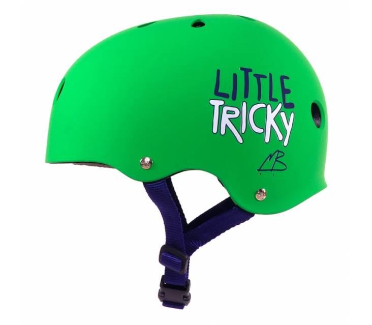 Шолом для роликів дитячий Triple8 Little Tricky Green Rubber popup