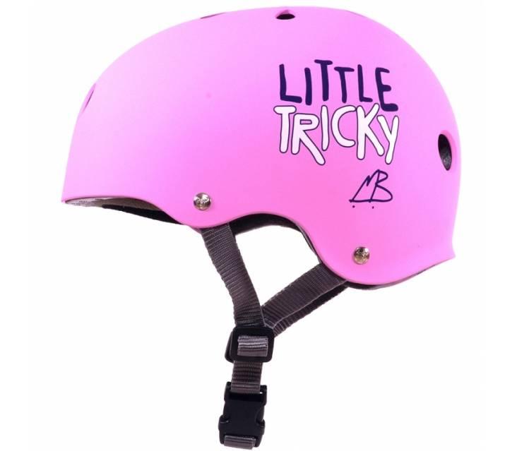 Шолом для роликів дитячий Triple8 Little Tricky Pink Rubber popup