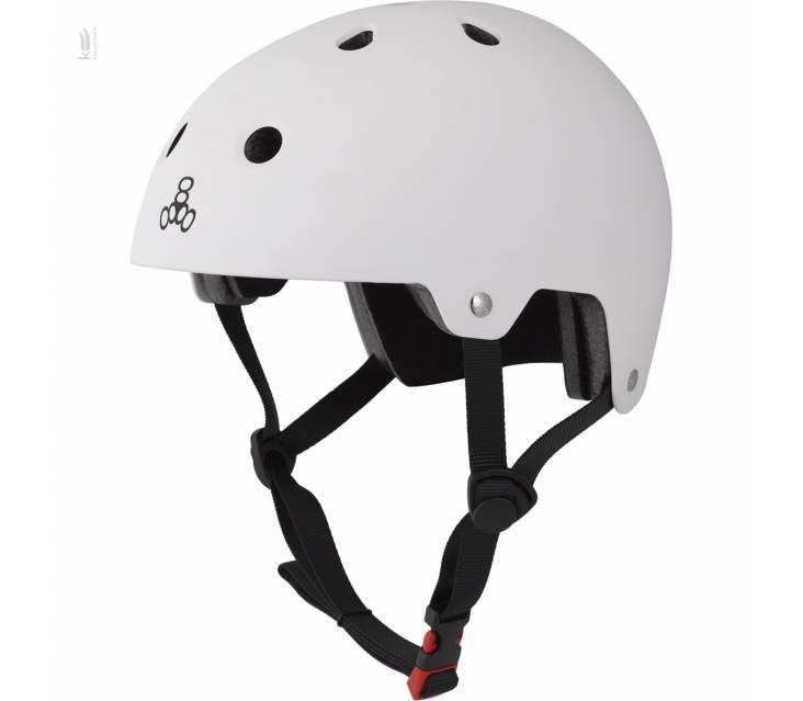 Шолом Triple8 The Certified Sweatsaver Helmet White Rubber popup