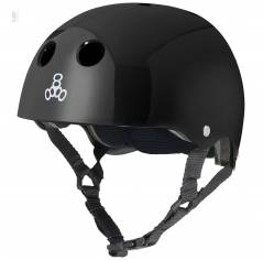 Шлем для велосипеда Triple8 Standard Helmet Black Glossy