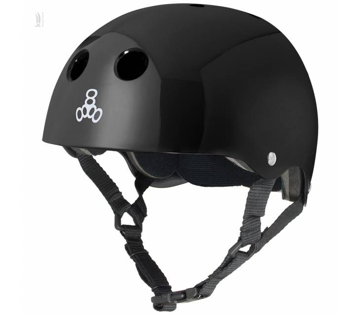 Шолом для велосипеда Triple8 Standard Helmet Black Glossy popup