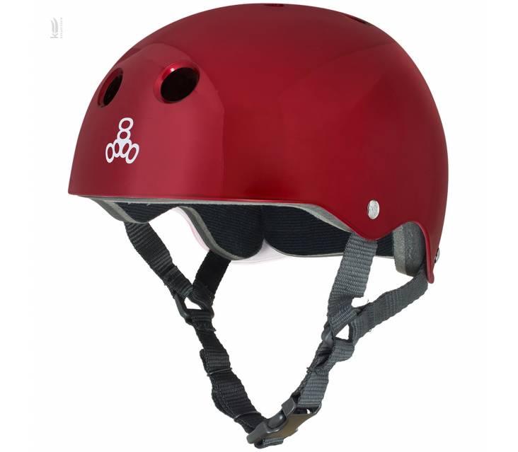 Шолом для велосипеда Triple8 Standard Helmet Red Metallic popup