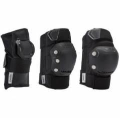 Защита для роликов мужская Oxelo Fit 500 black/grey