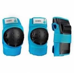 Защита для роликов детская Oxelo Basic Blue